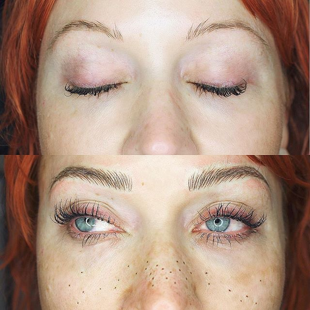 🧡FRECKLES AND BROWS🧡 This beauty came in for her annual touch up and some adorable freckles as well. Why not?!?? @warhorsetattoo #berkeley #freckles #browmagic #microblading #sarahrevisbrows