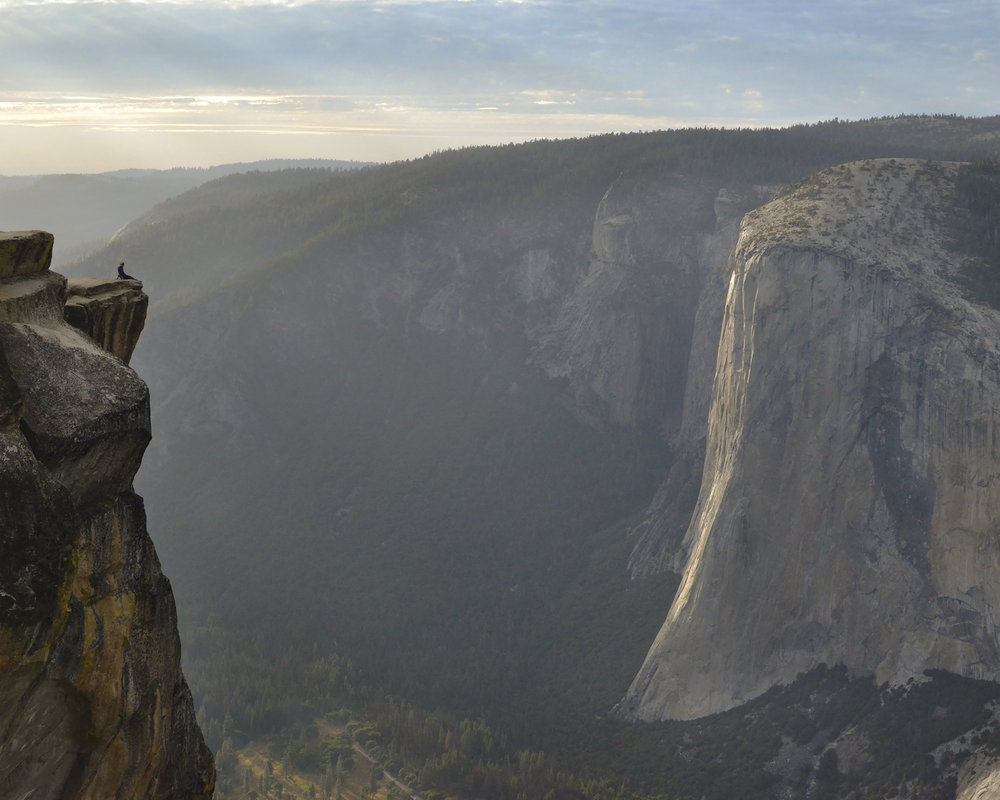 001- Alex looks at The Captain from Taft Point, Yosemite National Park