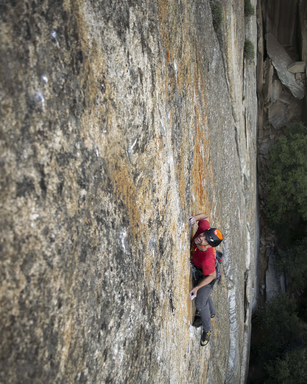 020- Mark leading a new route near The Cookie Cliff in Yosemite National Park