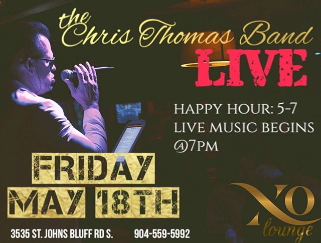 Tonight we have @thechristhomasband performing live. Live DJ and great vibes. Call or message for table reservations. . . . #xo #xolounge #xopremierlounge #xojax #xojackaonville #jacksonvillenightlife #904 #904happyhour #nightout #nightlife