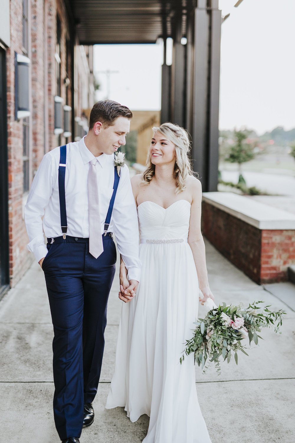 Blush-Navy-Industrial-Wedding