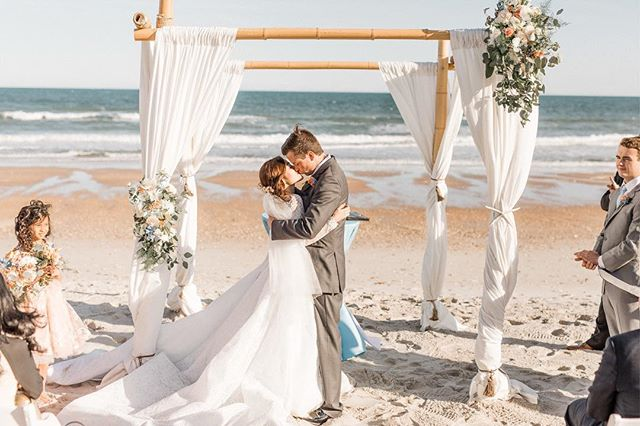 Just a little sneak peek (thanks to @knhphoto!) from this weekend's wedding! Although we could have done without a little bit of the wind, we couldn't have asked for better weather, sweeter guests, or a more perfect couple! Austin and Rosalie, we know you two are going to be so happy together! . 📷: @knhphoto  Flowers: @beautifulflowersbyjune  Catering: Sawmill Catering  Cake: @pinkbakingcompany  Rentals: Shoreline Party Rentals  Beauty: Jordan Harmon @x.xviii_xci  Officiant: @revskipcorbett  Videography: @amygdalastudios