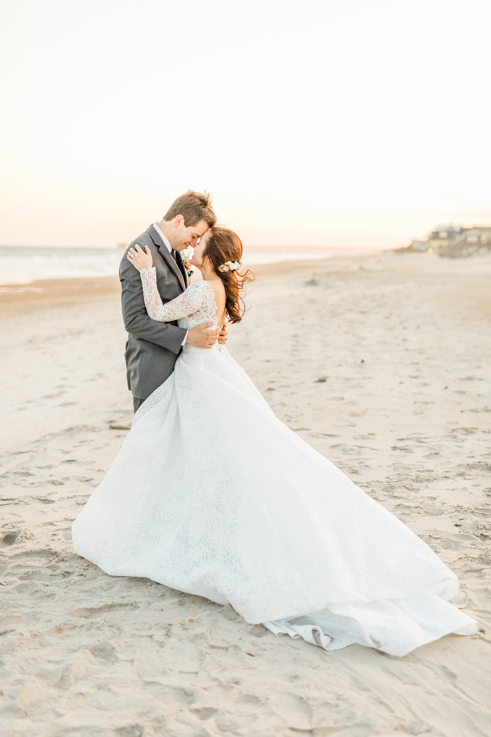Peach-Blue-Topsail-Beach-Wedding