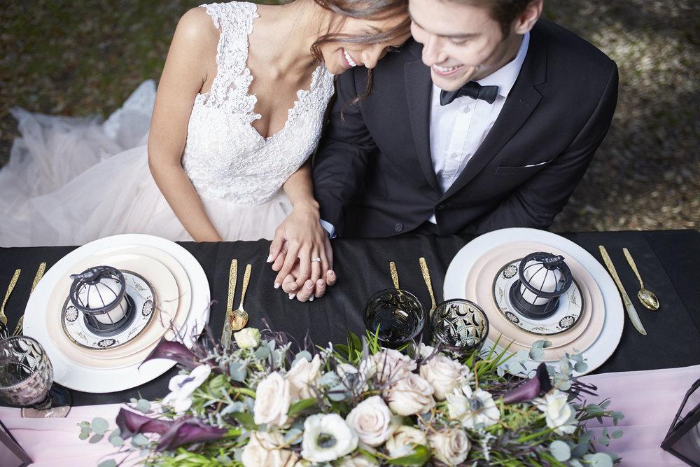 Trendy-Blush-Black-Airlie-Gardens-Wedding-7