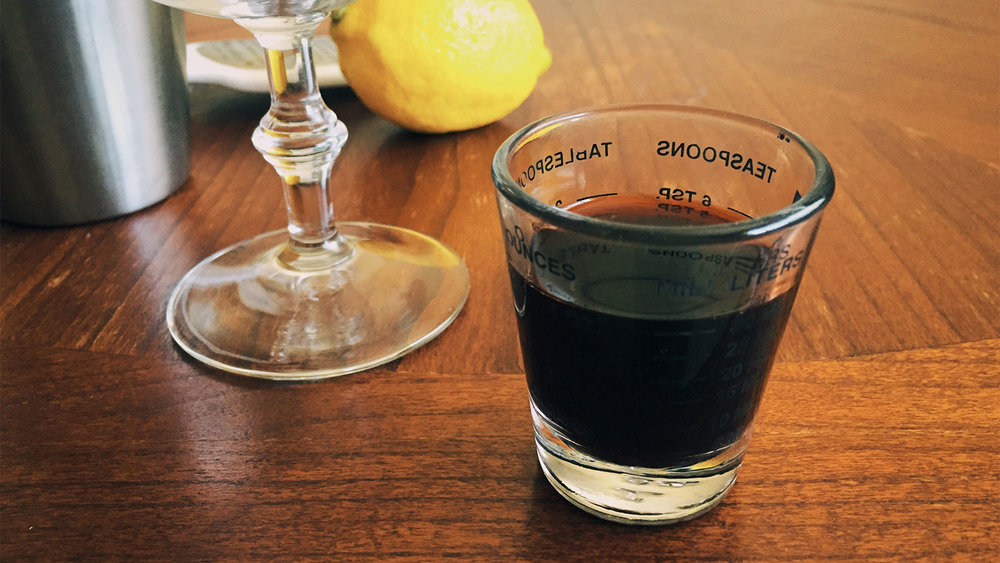 That's an entire shot of Angostura. You have to remove the drip cap from the bottle to get this kind of intense beauty.