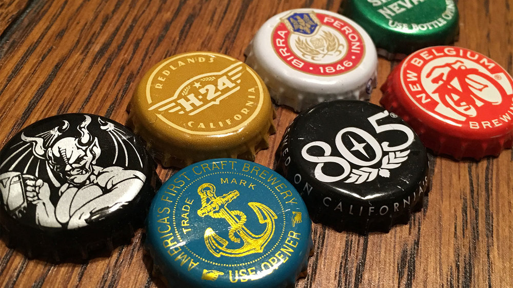 Like LRP does in its shows, Trap Street LA hosts wear a pin to ID themselves. This time, as our show is in a brewery, we're rocking some snazzy bottlecaps.