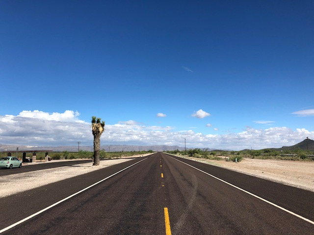 On the open road from Marfa, TX to Carlsbad Caverns. I had to stop and take it all in.