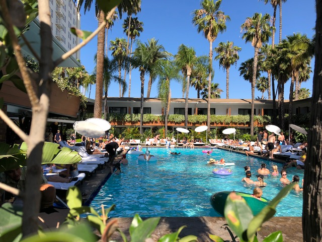 The infamous Tropicana Pool and Cafe at the Hollywood Roosevelt. My pools have gotten fancier but my behavior....not so much. I still tried to swim across this pool 3 times before resting on an inflatable unicorn.