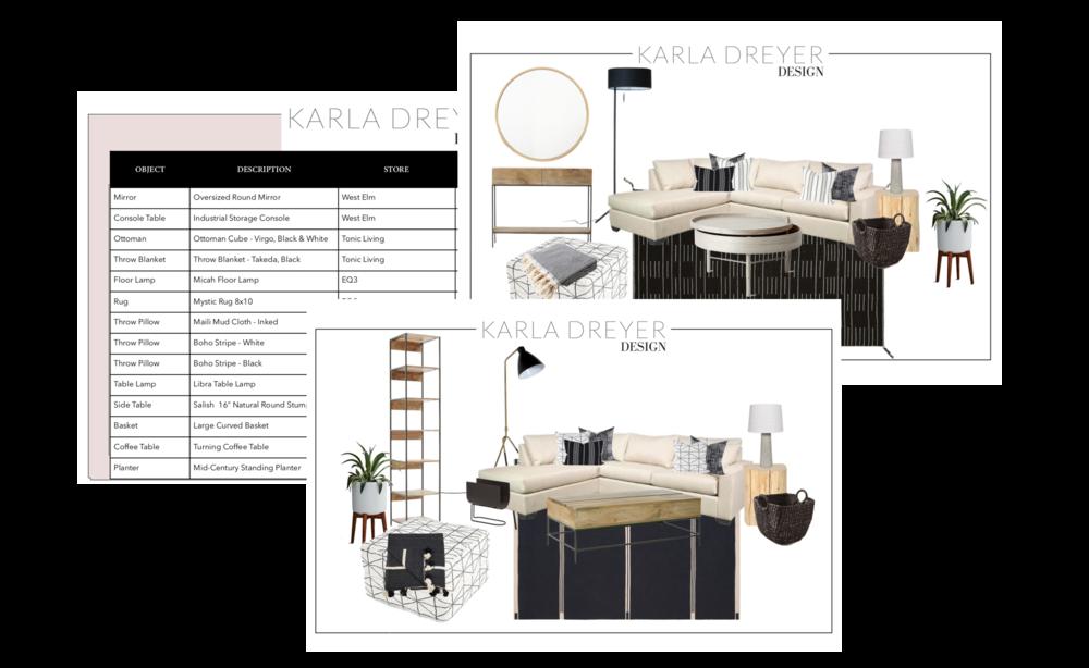 E-design with Karla Dreyer Vancouver Interior Designer and Decorator