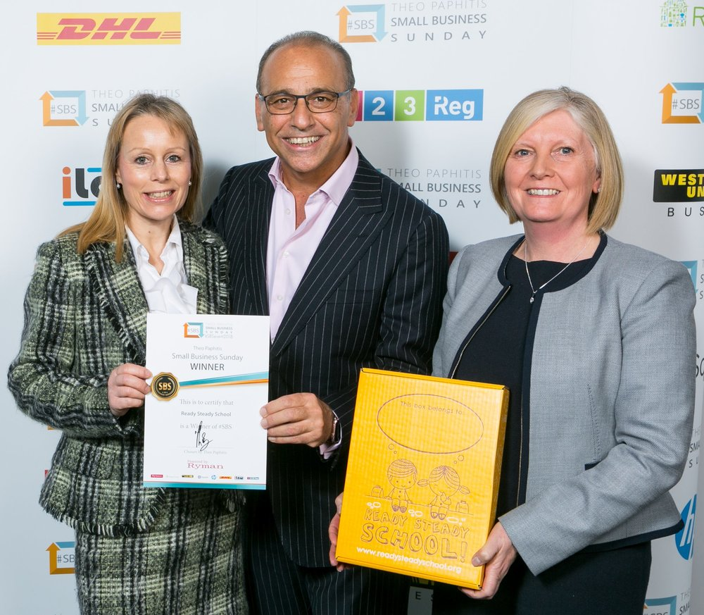 Achievements - Jo and Lisa were delighted to receive the official endorsement of Dragon's Den star Theo Paphitis when Ready Steady School became one of the winners of 'SBS' Small Business Sunday in October 2017.Winners also of Early Years Hour, Women in business, Queen of Educational Resources and Bright Pig awards.Jo and Lisa write regularly for the family column in The Yorkshire Times.http://yorkshiretimes.co.uk/writer/jo_and_lisa