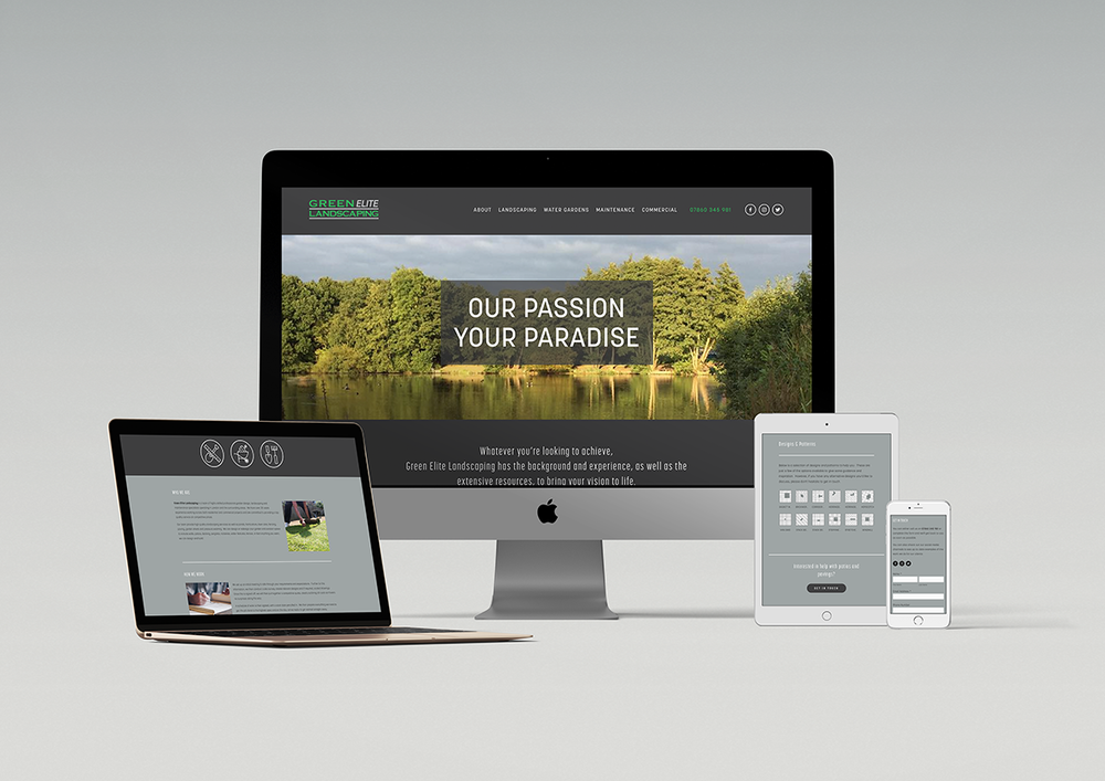 GREEN ELITE LANDSCAPING - WEBSITE + BRAND COLLATERAL