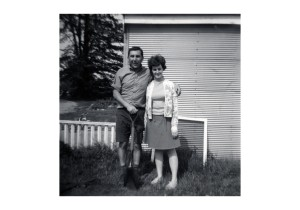 mom and dad near old pool jpg