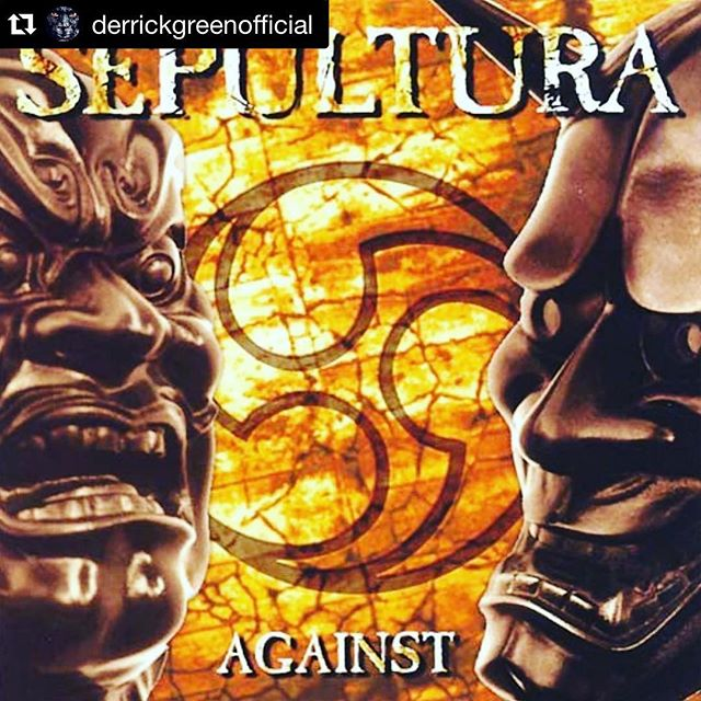 Against turns 20 today! Our very first album with Mr. Derrick Green and a milestone in Sepultura's career. #sepultura #against #derrickgreen