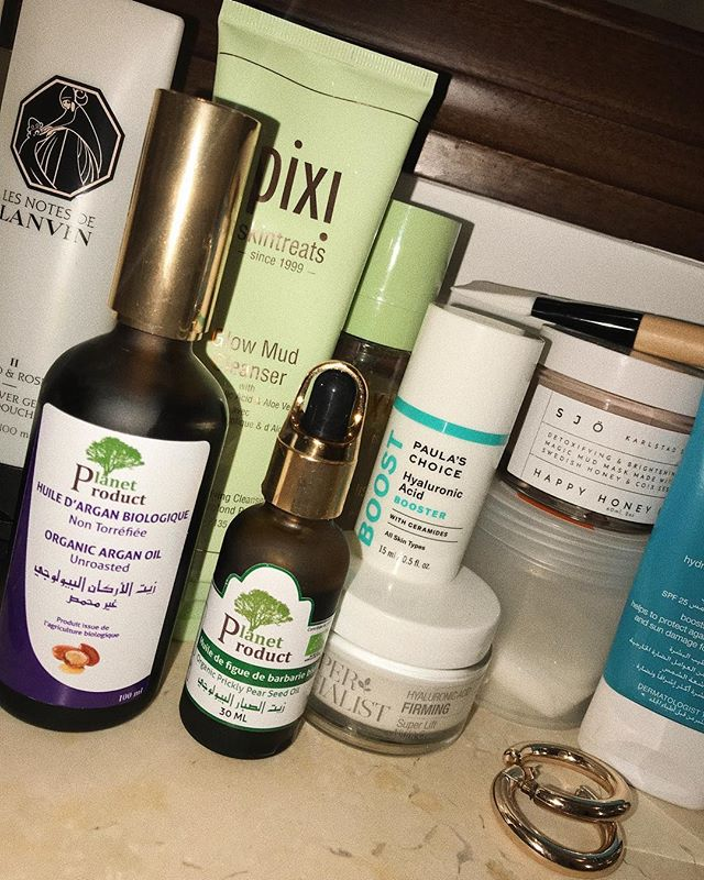 Some of my skincare used on holiday, with two new products from Planet Product - a local factory and shop in Agadir. Excited to incorporate more organic products into my routine!