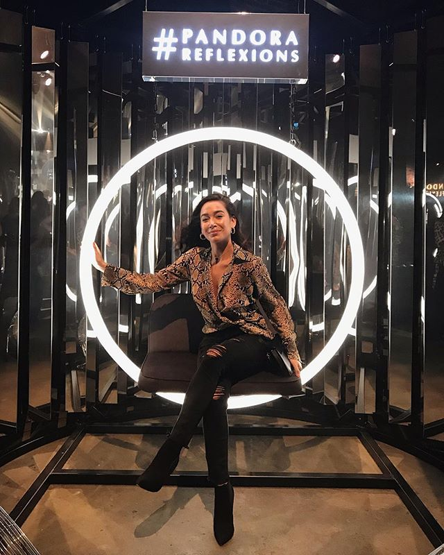 A swing, ring light and fans - doesn't get more Instagram than this! Thank you @theofficialpandora for a lovely event celebrating your new collection ✨ #PANDORAReflexions