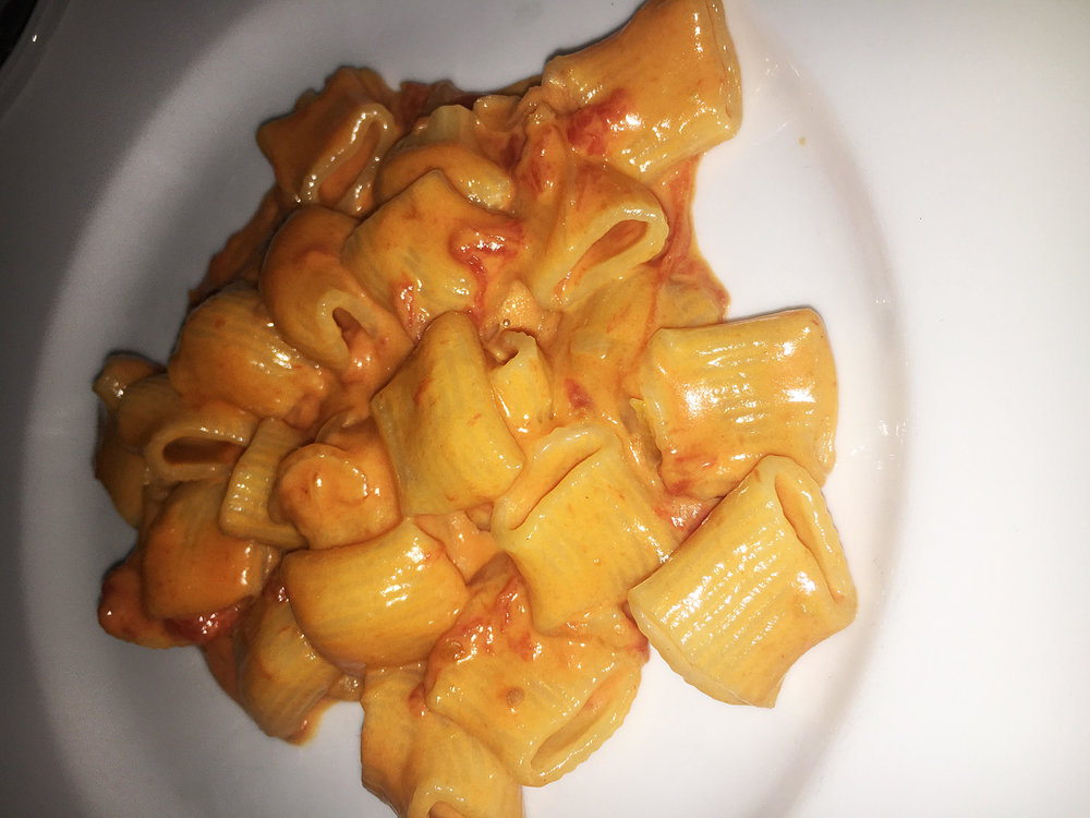 Spicy rigatoni