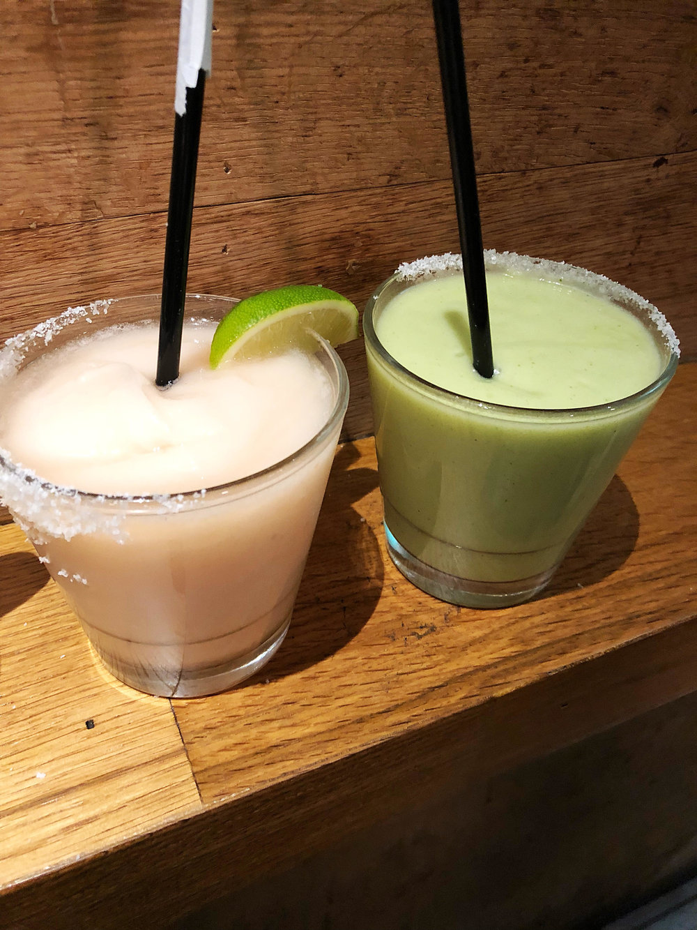 Habanero peach and avocado margaritas