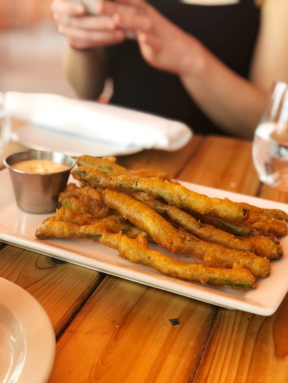 Asparagus fries with lemon Dijon aioli