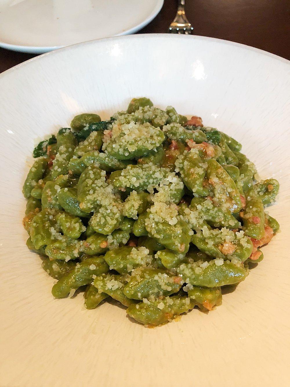 Cavatelli verde, lamb, mint, spinach