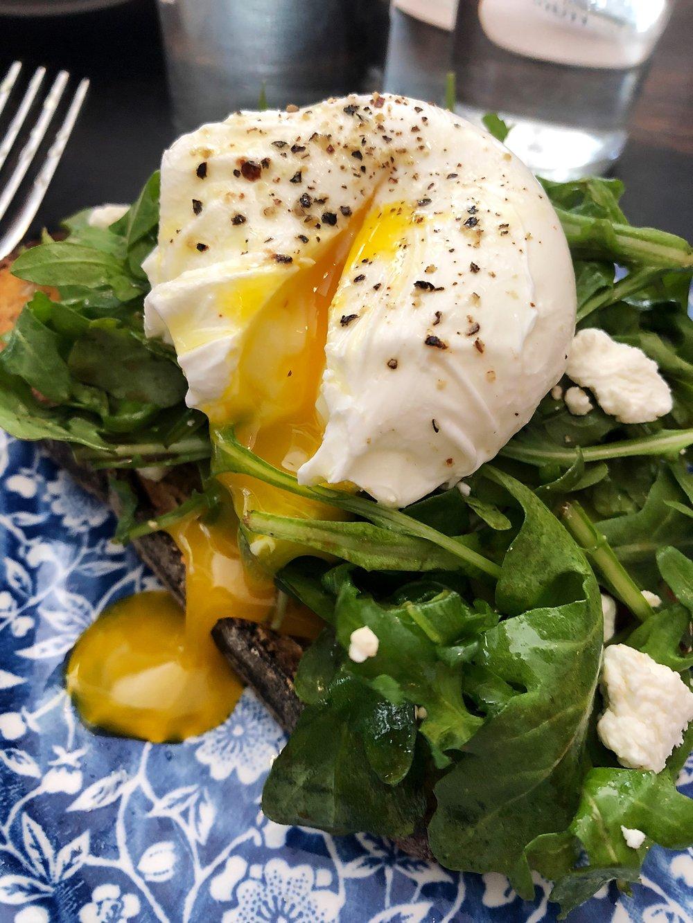 Avocado toast + add an egg