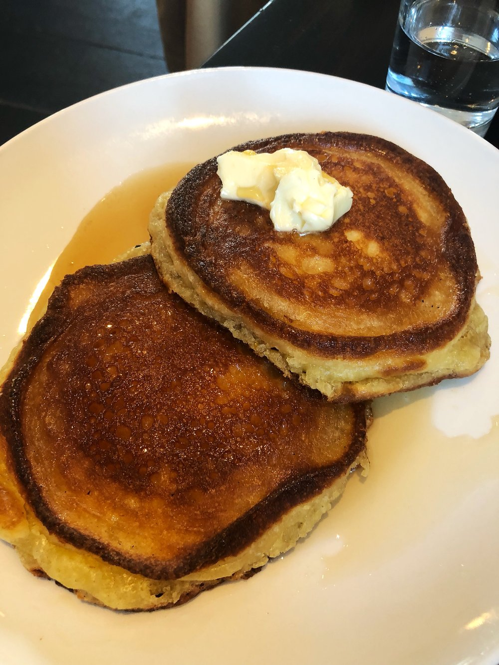 Cast iron skillet pancakes, perfectly griddled with a fluffy interior