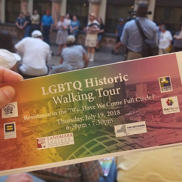 Tonight's LGBTQ Historic Walking Tour with @landmarksociety shares our Pride of Place and celebrates Rochester's history of the LGBTQ movement. #rocpride2018