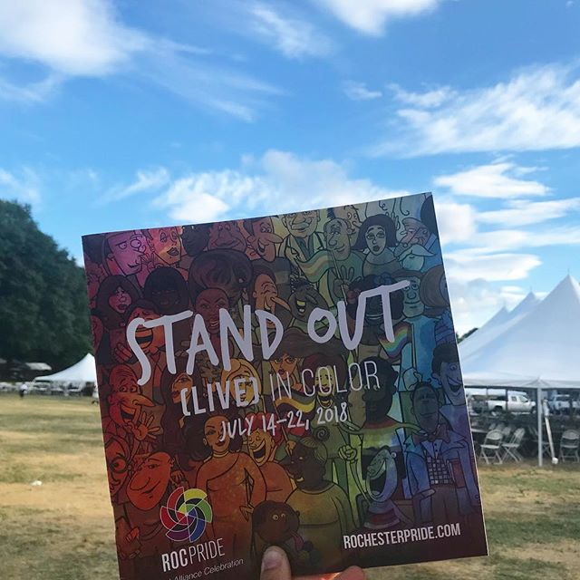 That's a wrap on #rocpride2018! Thank you to all who celebrated Roc Pride with us this week and supported @outallianceroc by STANDING OUT and living in color!