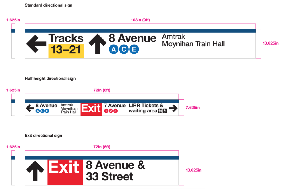 Long Island Railroad Station Improvements  City-ID - New York, NY - 2017  Worked as part of the City-ID design team to update Long Island Railroad signage and message schedules to current ADA standards and to correspond stylistically with other transit brands operating within the New York Tri-State area.