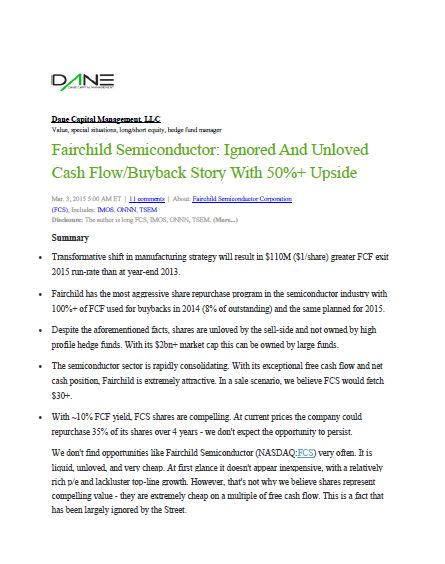 Fairchild Analysis 3/3/15
