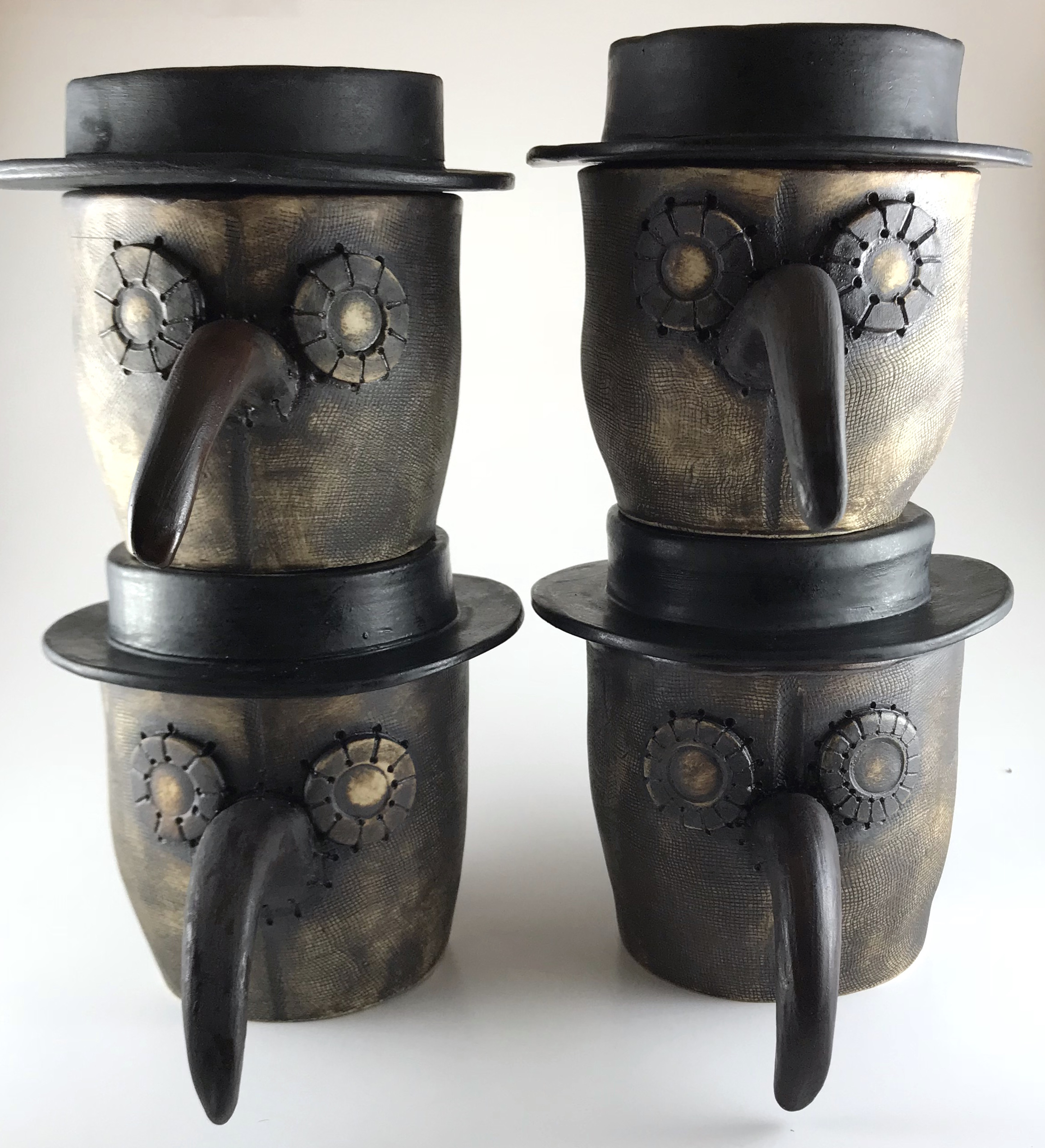 Plague Doctor Mug With Hat White Clay Cabinet Of Curious Clay