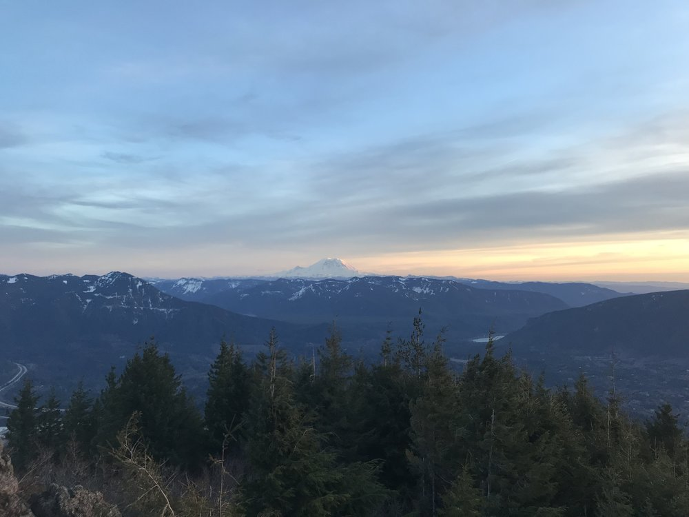Rainier coming out to play