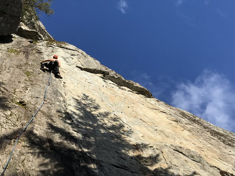 Aaron on the last route.