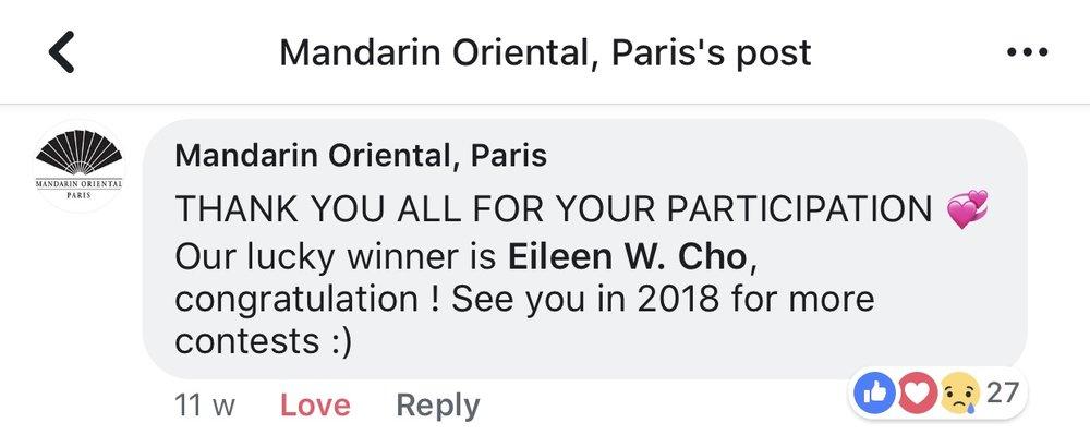 Mandarin Oriental Facebook