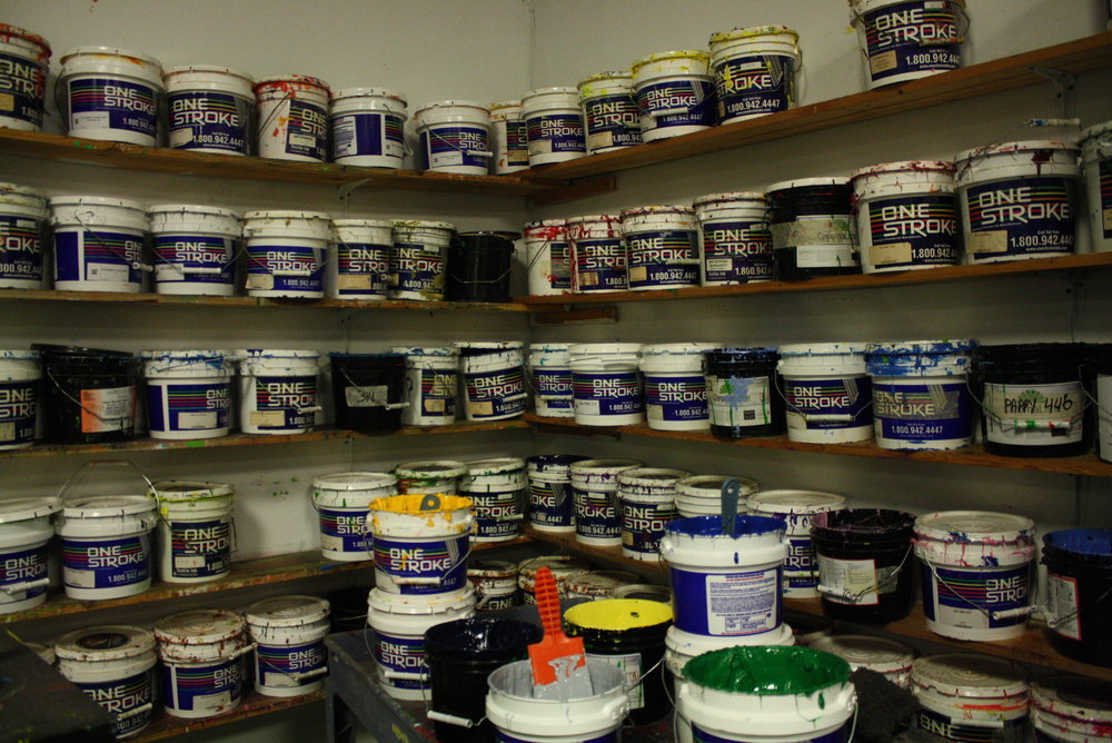 It's a dirty job, but your apparel comes out looking fresh and clean! A selection of some ink we have to offer.