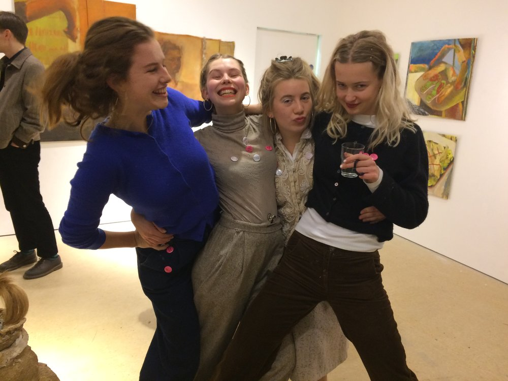 Verity Monroe, Jessie d'Evans, Moina Leahy and Rowan Kelly at opening night