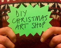 7th Dec 6pm :  DIY Christmas Art Shop