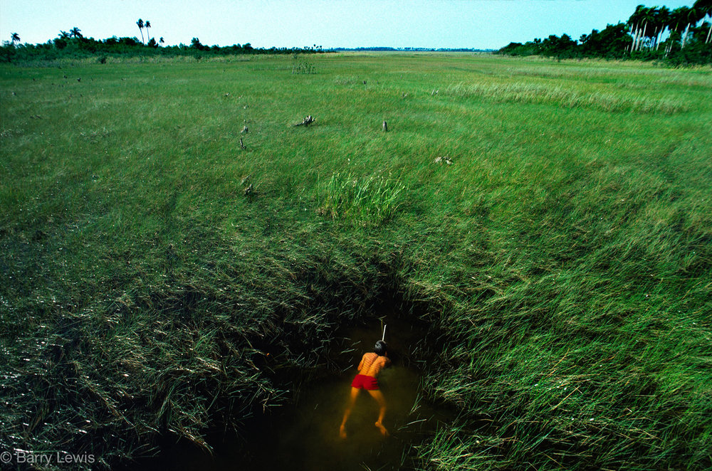 Trout fishing in the swampland of  Northern Cuba 1979