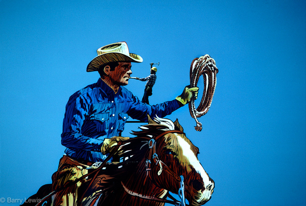 Marlboro Man billboard on Sunset Bvd, LA 1983.