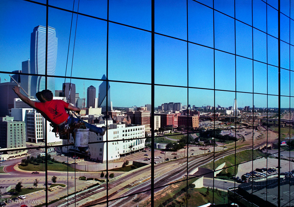 Window cleaner, Dallas, 1996.