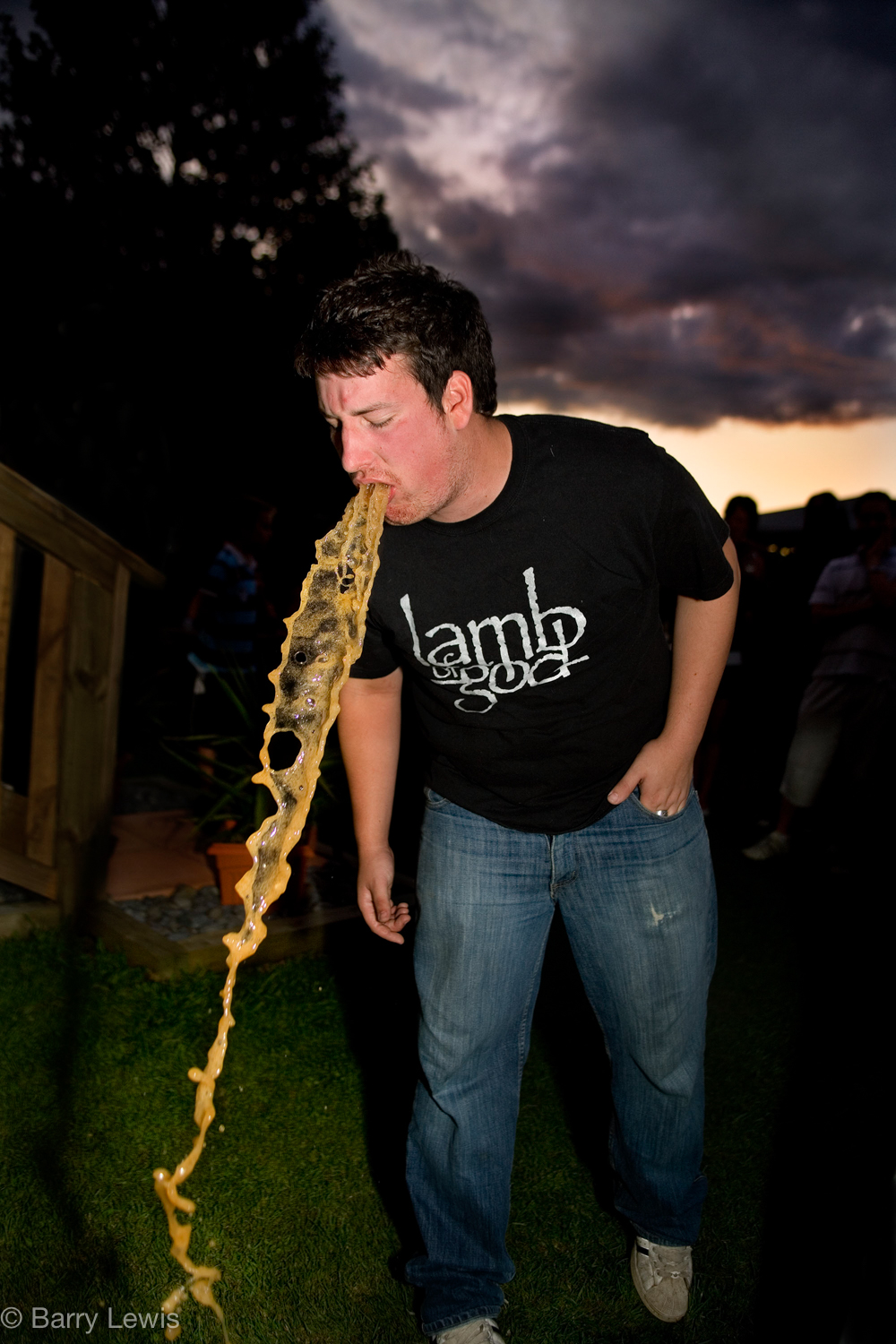 New Zealand - boy vomiting on 21st birthday.