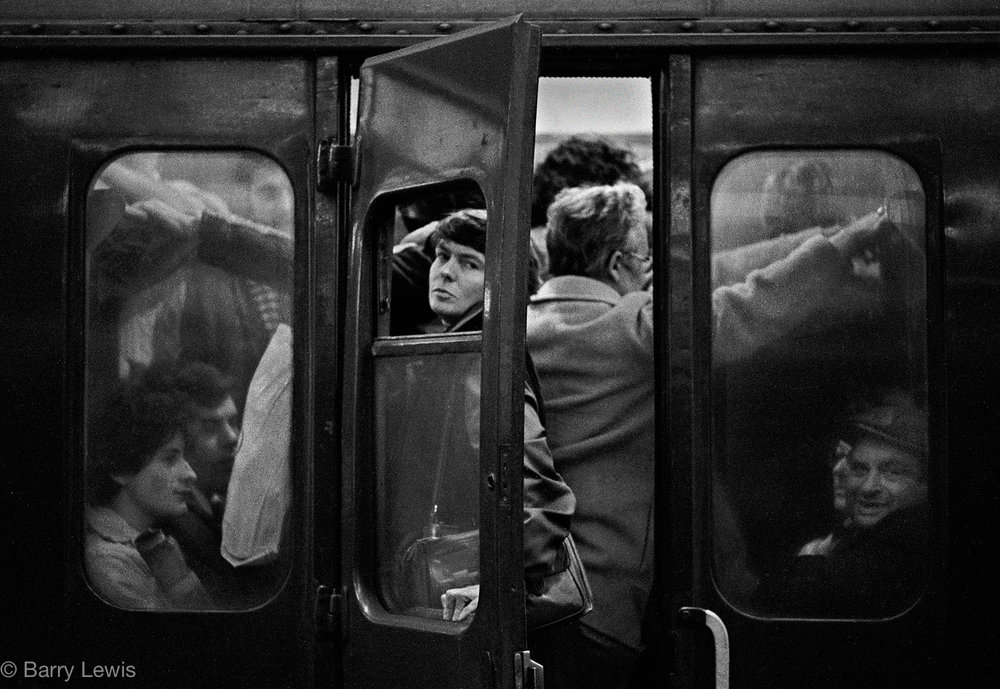 Charing Cross Station, rush hour, 1979.