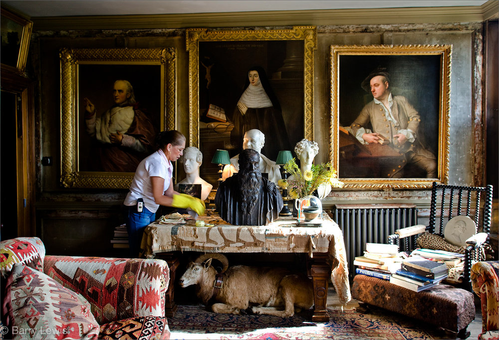 Teresa De Las Casas cleaning in Malplaquet House, Georgian home of Tim Knox and Todd Longstaff-Gowan.