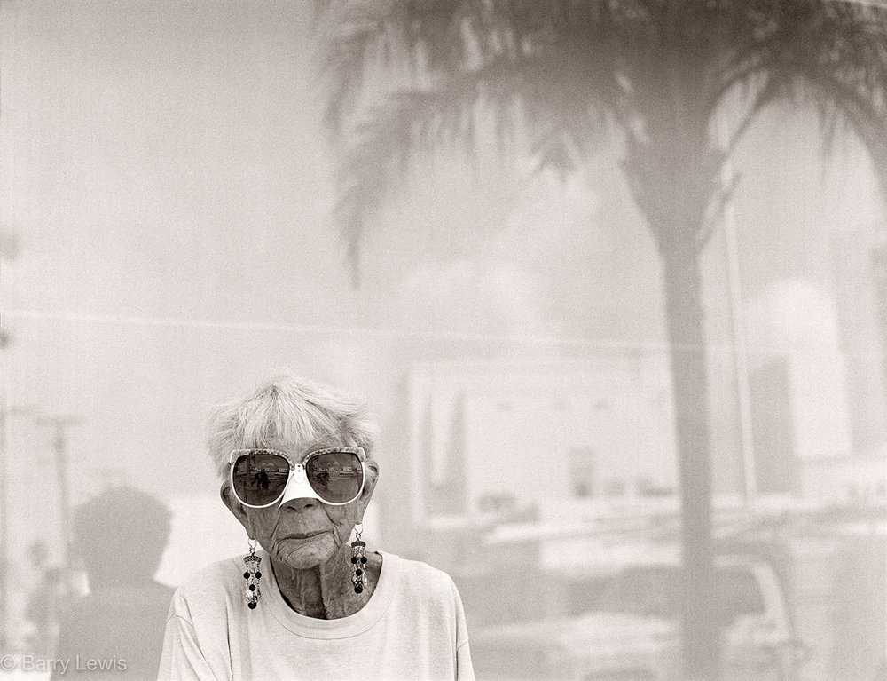 Snowbird with noseguard, Washington Avenue, Miami Beach, Florida, 1981
