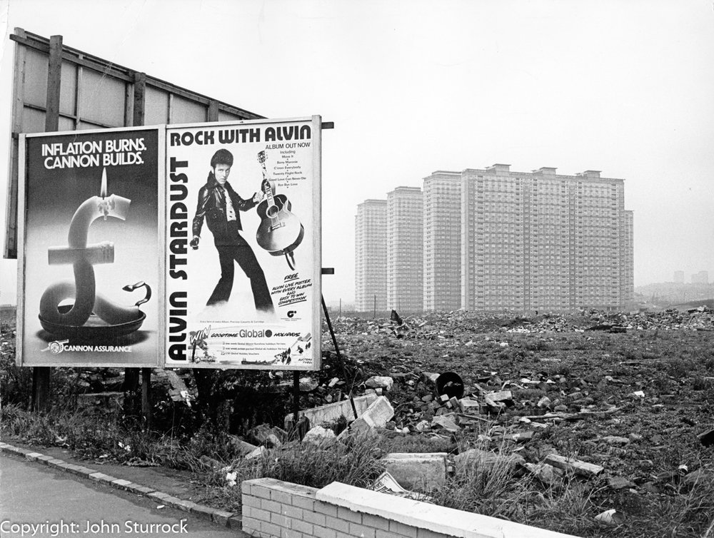 Red Road flats, Glasgow,  1975