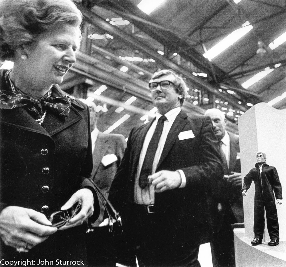 Margaret Thatcher on a factory visit in Glasgow during the 1987 election campaign
