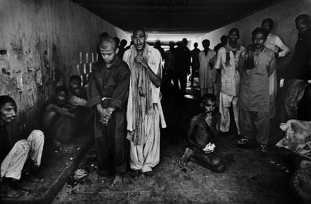 1990. Karachi Pakistan. Edhi Center mental institution