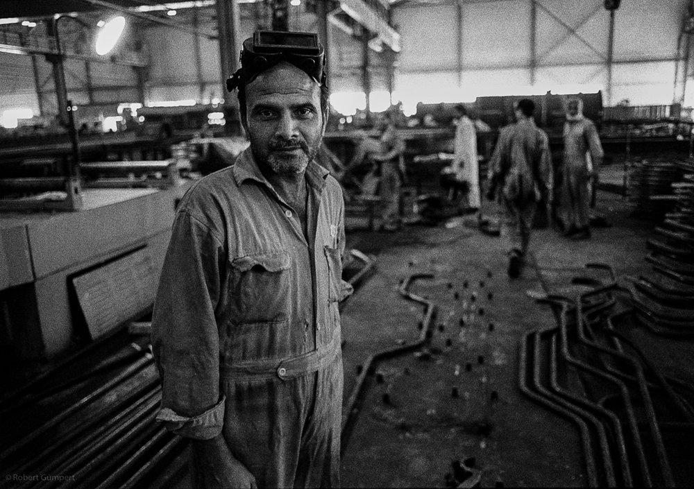 1988: North of Islambad, Pakistan Steelworker.