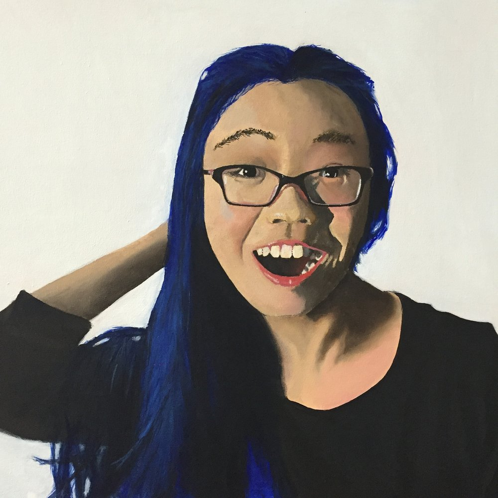 indigo, 2015  oil paint on canvas