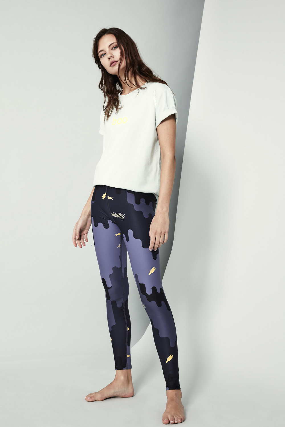 Leggings in save the Ocean print
