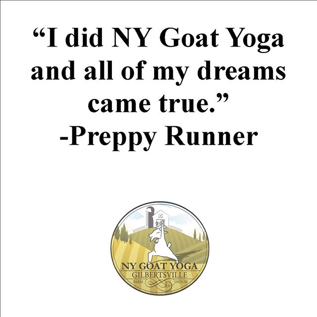 MAKE YOURS AND A FRIENDS DREAM COME TRUE TODAY! ⠀⠀⠀⠀⠀⠀⠀⠀⠀ Purchase your ticket(s) today!⠀⠀⠀⠀⠀⠀⠀⠀⠀ ⠀⠀⠀⠀⠀⠀⠀⠀⠀ Read all about @theodorable 's #NYGoatYoga experience by clicking link her bio or going to: https://preppyrunner.com/2018/05/ny-goat-yoga-glamping-gilbertsville/⠀⠀⠀⠀⠀⠀⠀⠀⠀ ⠀⠀⠀⠀⠀⠀⠀⠀⠀ Sent via @planoly #planoly